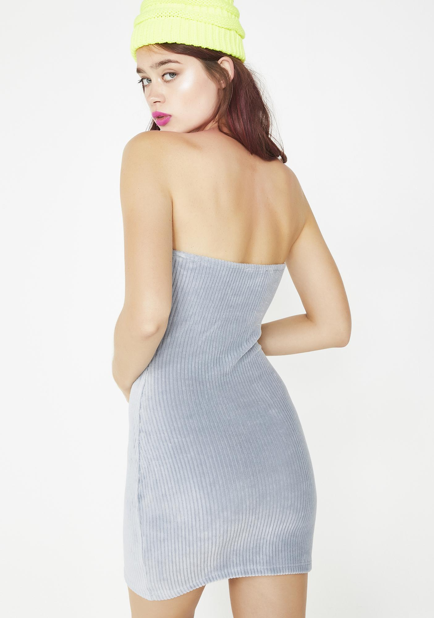 No Time Wasted Corduroy Dress