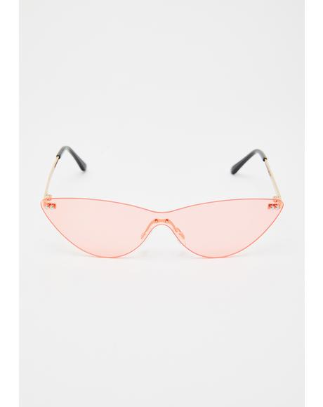 Fire Shooting Daggers Cat Eye Sunglasses