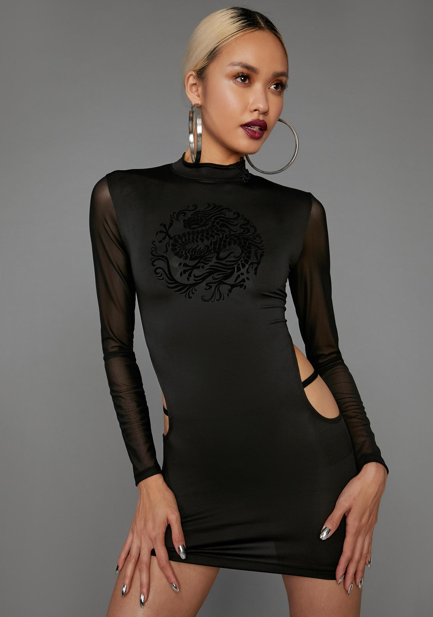 Poster Grl Bad Gal Revolution Cutout Dress