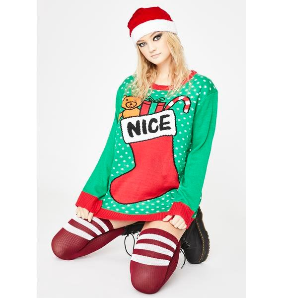 The Nice List Holiday Sweater
