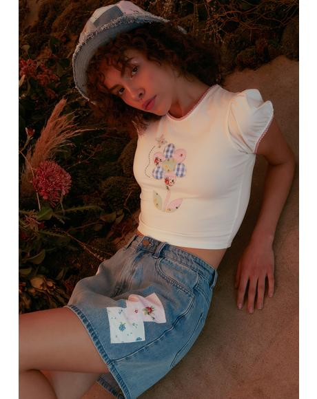 Rain Or Shine Flower Patch Baby Tee