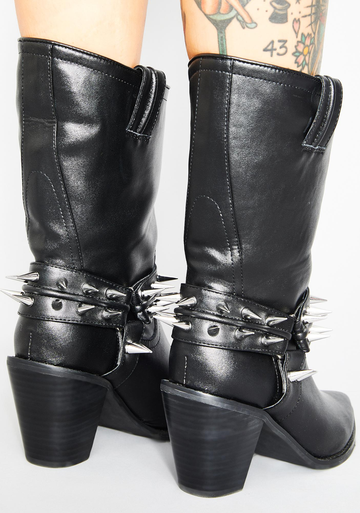 Widow Blood For Blood Spiked Boots