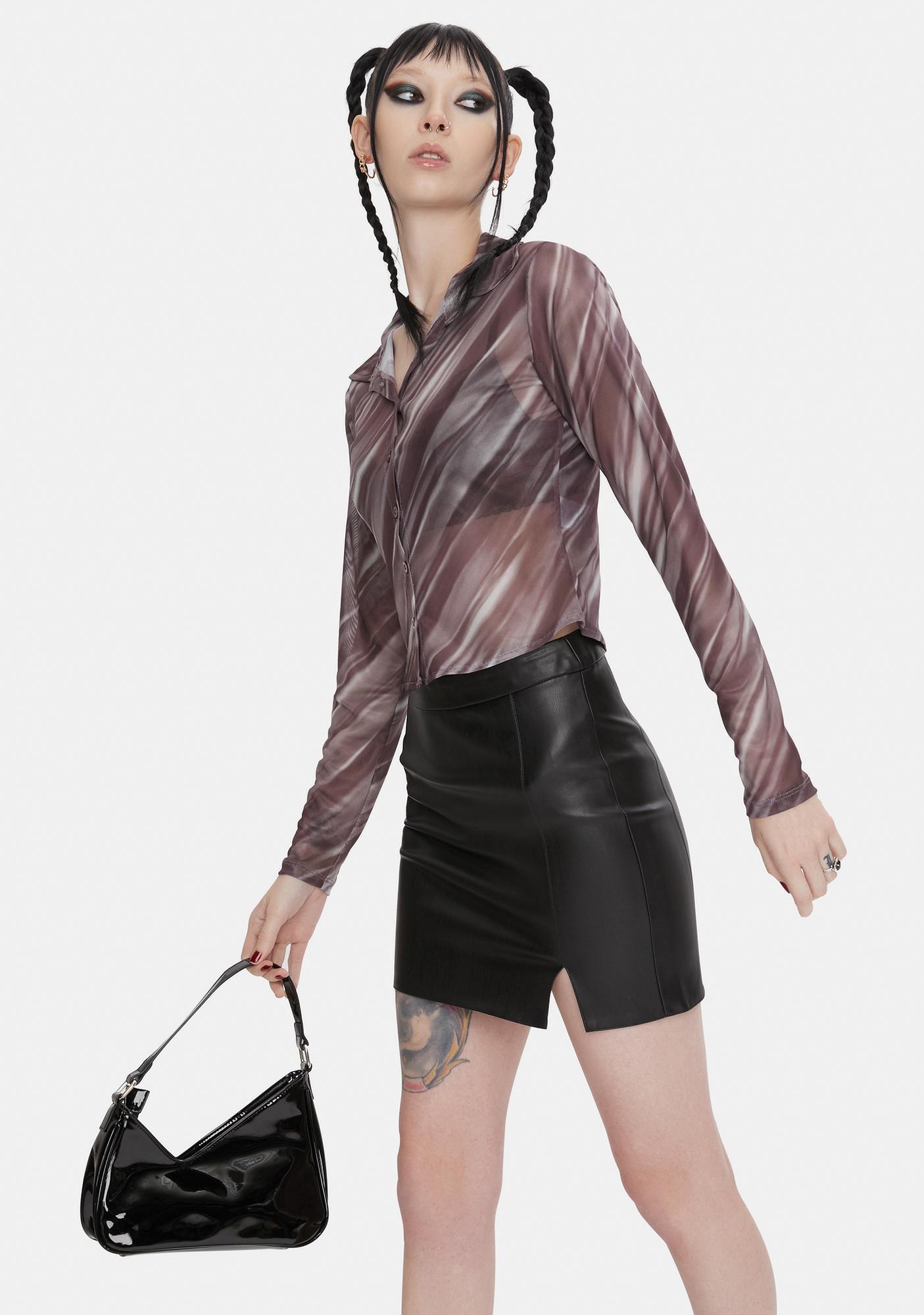 BB Dakota Little Kicks Vegan Leather Mini Skirt