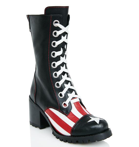 Current Mood Babe Brigade Combat Boots
