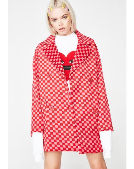 Oversize Pink Coat