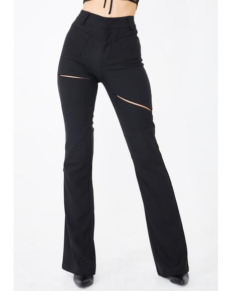 Black Valencia Pants
