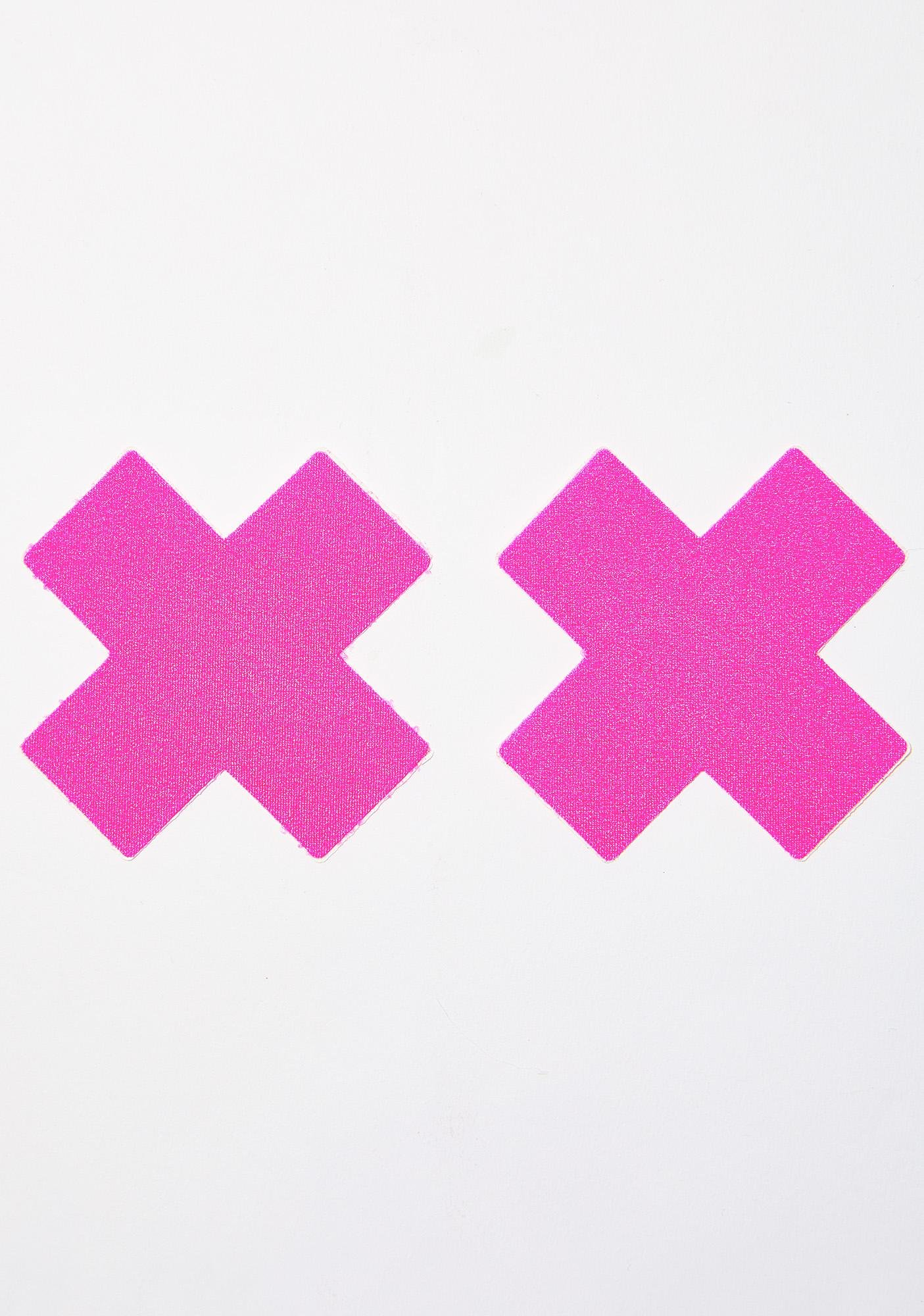 Pastease Neon Pink Cross Pasties
