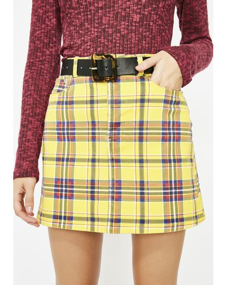 Class Of Baddies Plaid Skirt