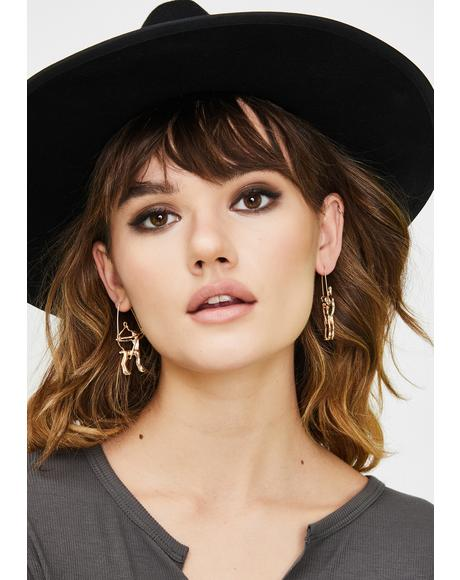 Straightforward Sagittarius Drop Earrings