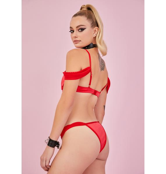 Sugar Thrillz Flame Forbidden Fling Satin Panties