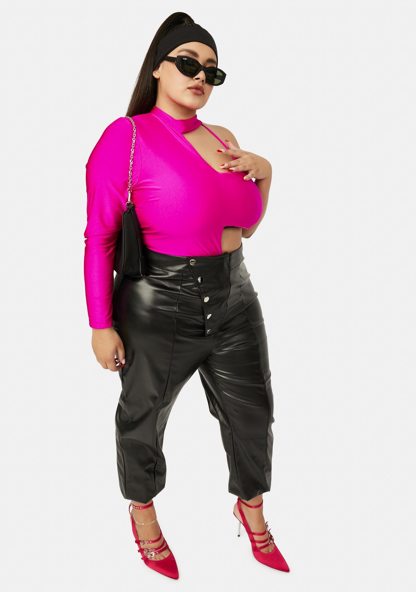 Magenta Always Hella Moods Cut-Out Bodysuit