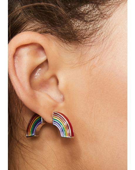 Rainbows & Sunshine Wrap Earrings