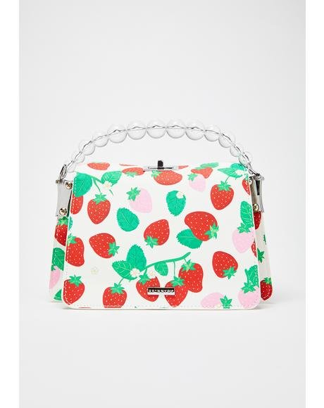Lacey Strawberry Crossbody Bag