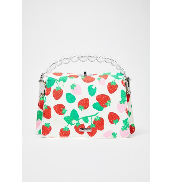 Skinnydip Lacey Strawberry Crossbody Bag