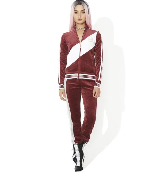 JUICY COUTURE Sporty Heritage Velour Track Jacket