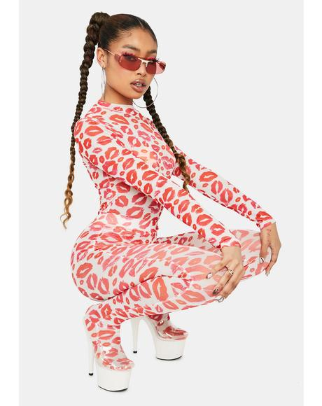 Full Body Kisses Long Sleeve Jumpsuit