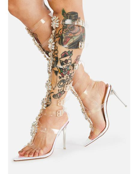 Mermaid Knee High Buckle Heels