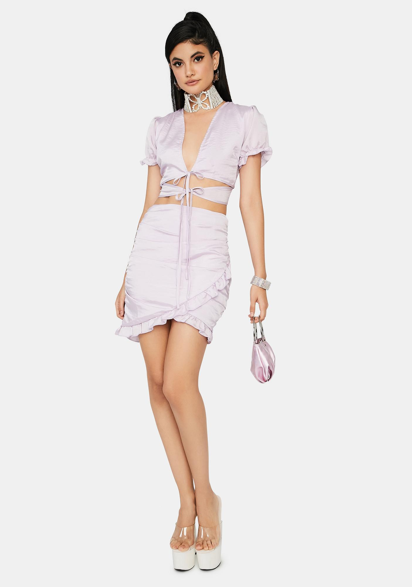 Lavender Gardens Mini Dress
