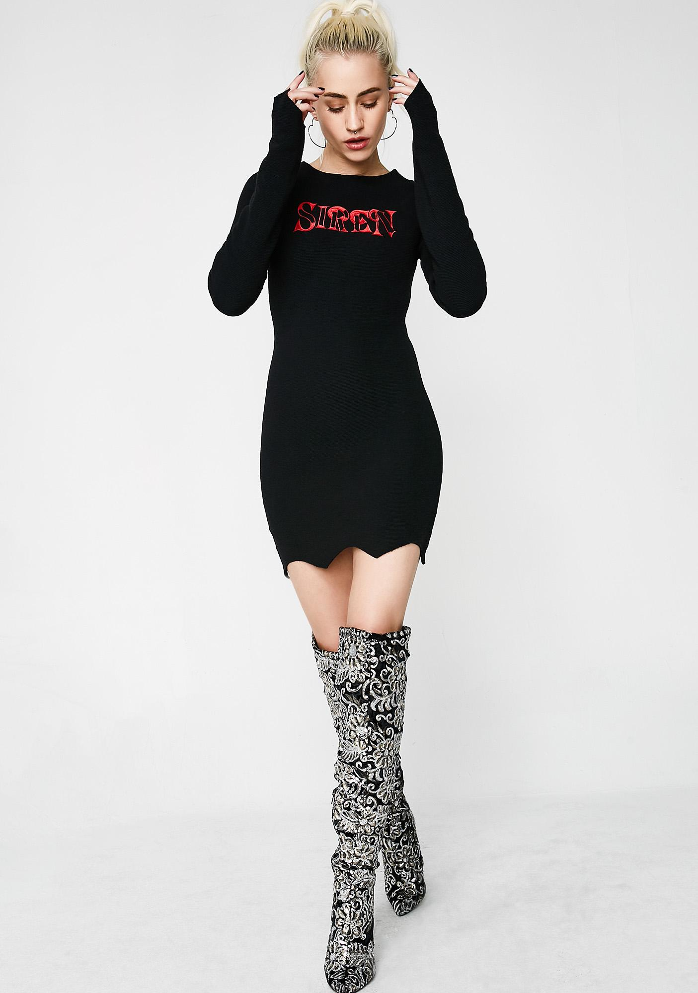 Matte Siren Logo Mini Dress