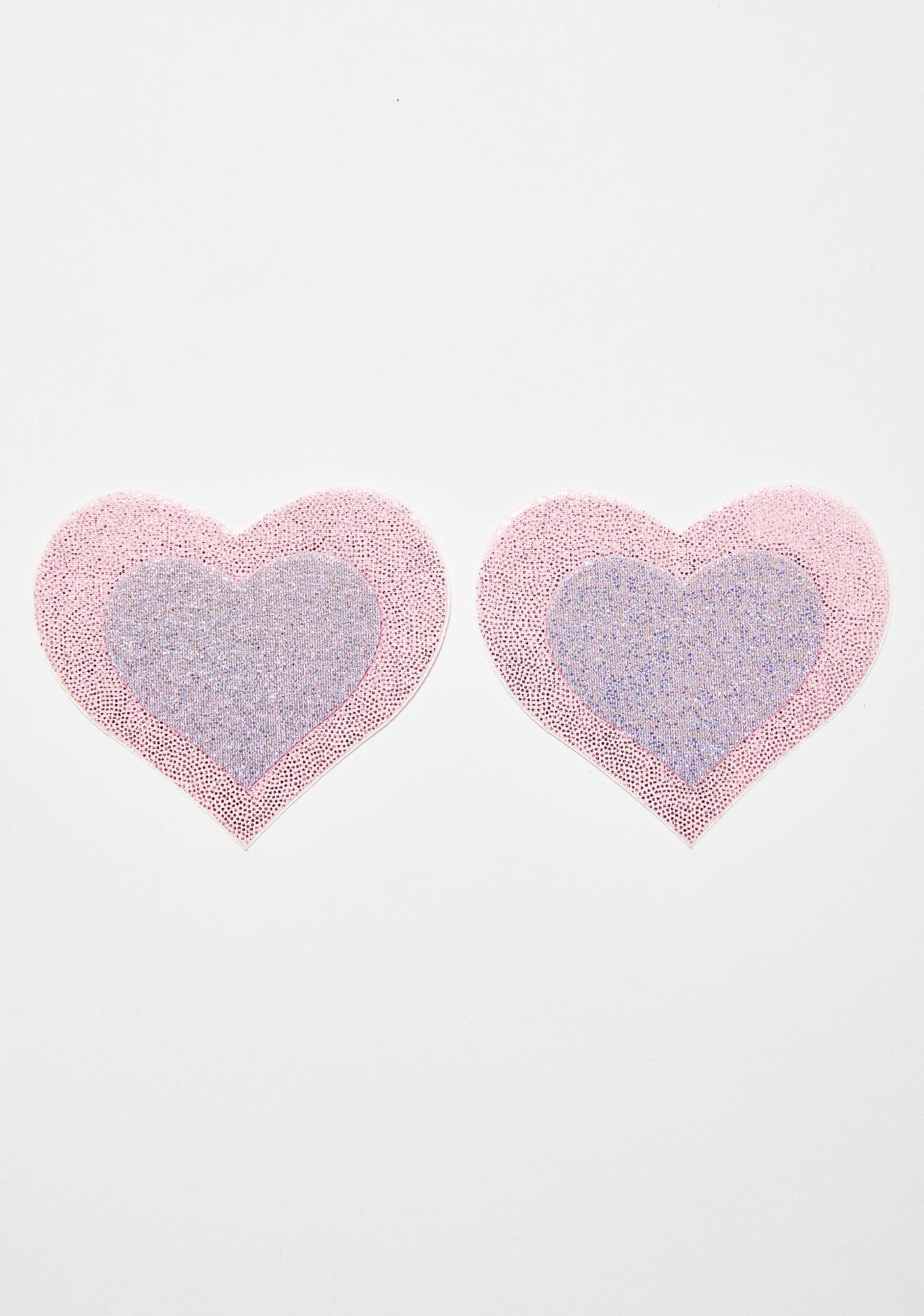 Pastease Pink Layered Heart Pasties