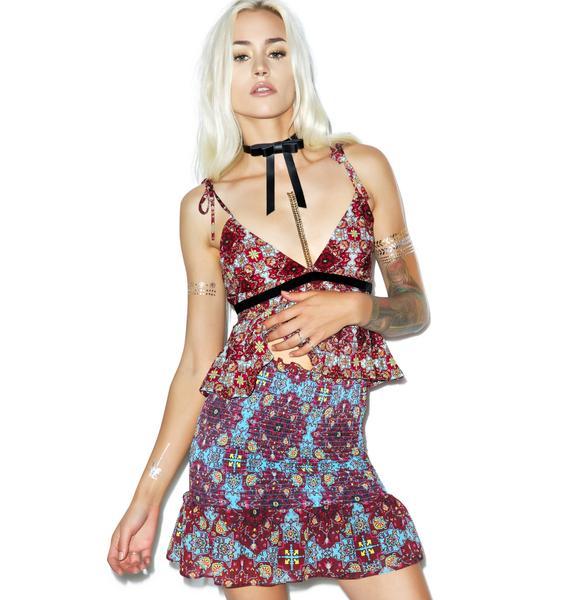 For Love & Lemons Clover Mini Skirt