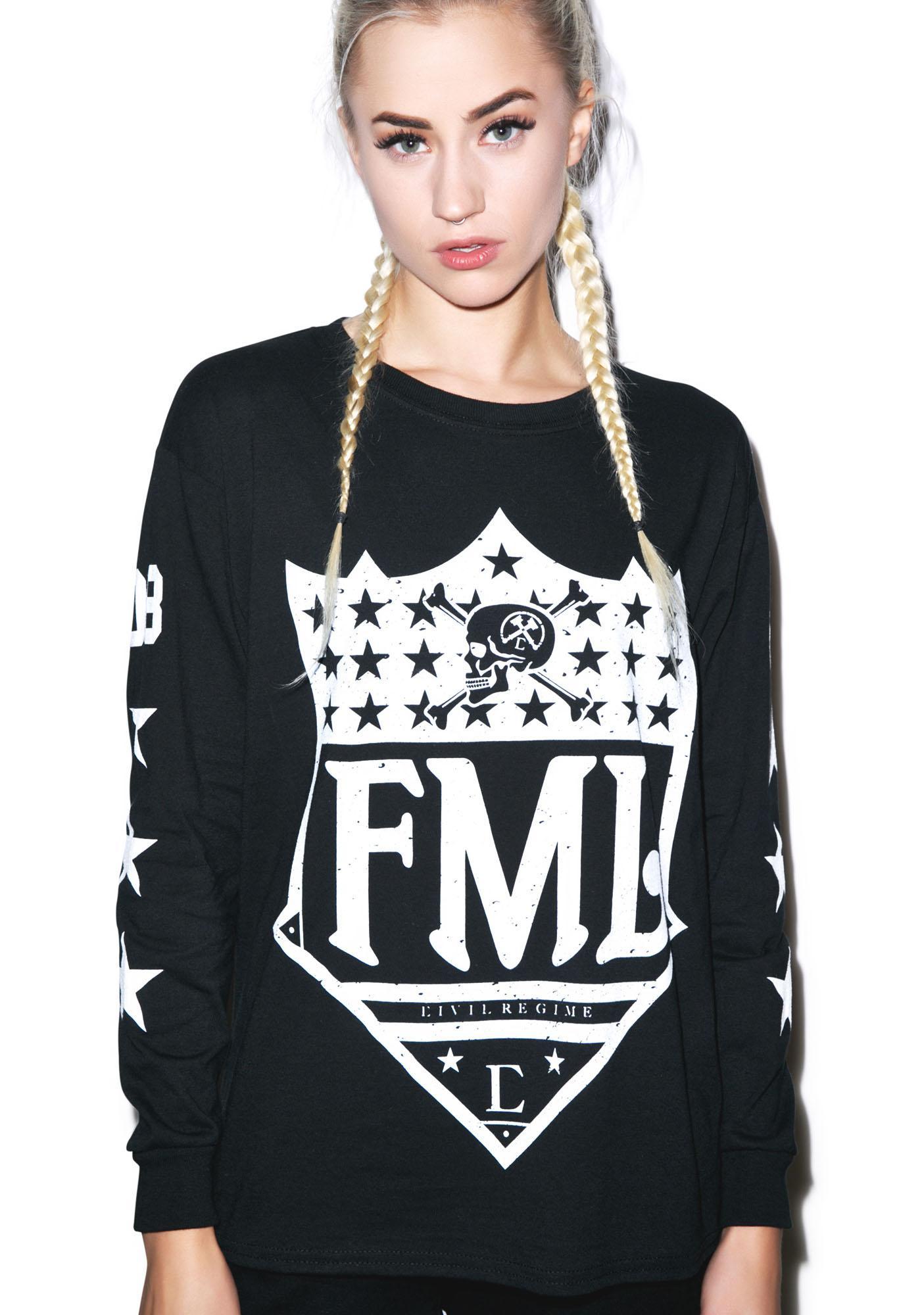 Civil Clothing FML Long Sleeve Tee