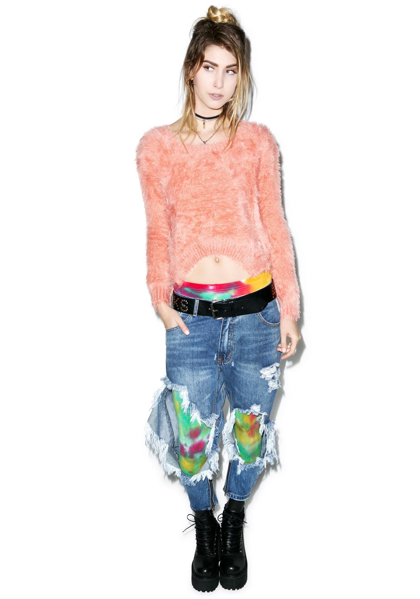 Somedays Lovin Roadside Fluffy Crop Sweater