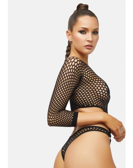 Practically Perfect Fishnet Bodysuit