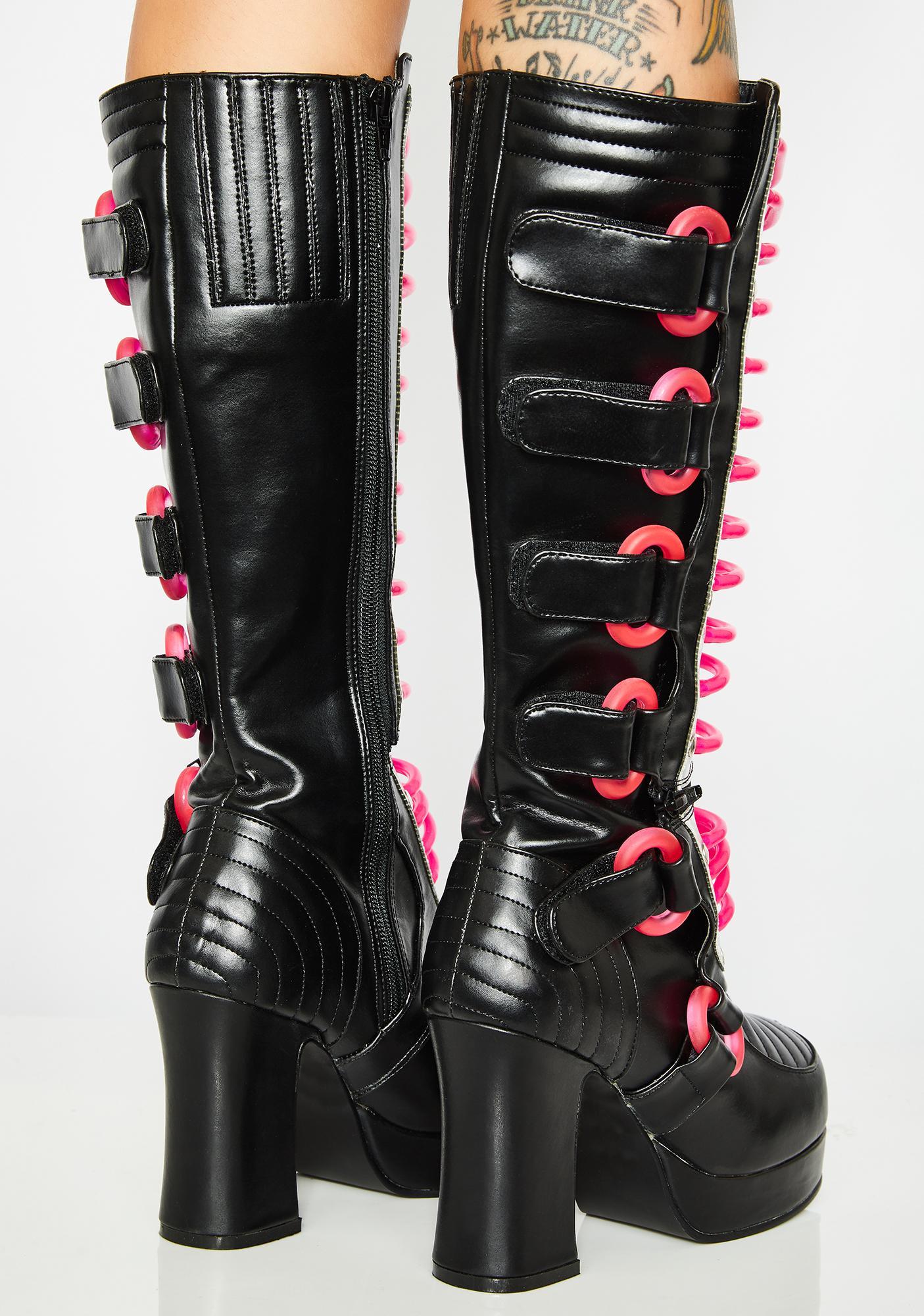 Demonia Illuminatron UV Boots