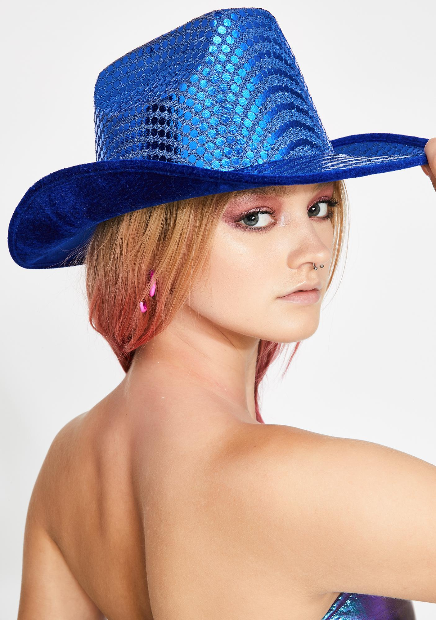 Replay Vintage Sunglasses Blue Space Cowboy Hat