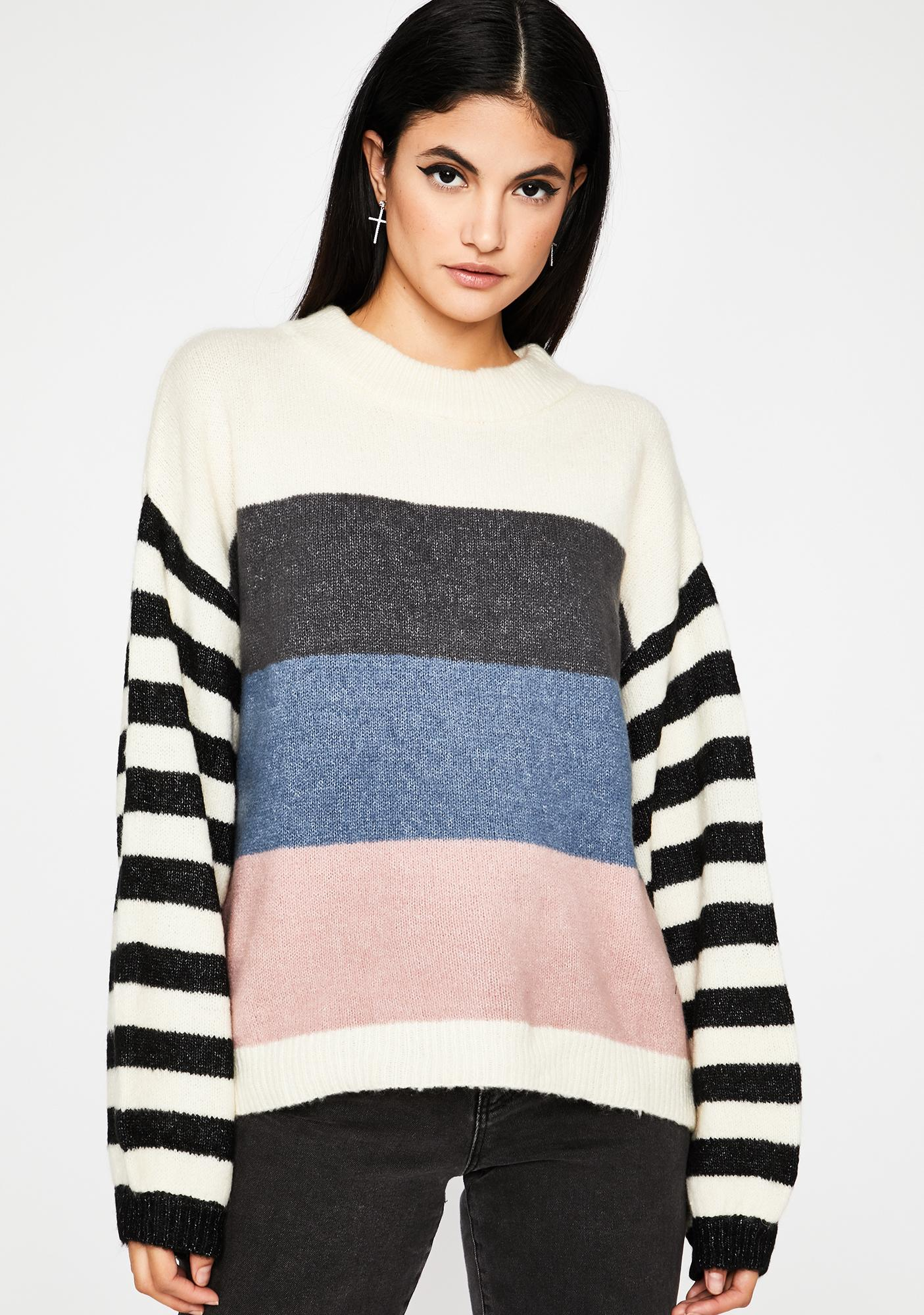 Day Off Striped Sweater