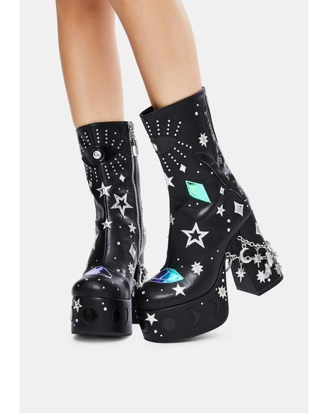 Wicked Divination Platform Boots