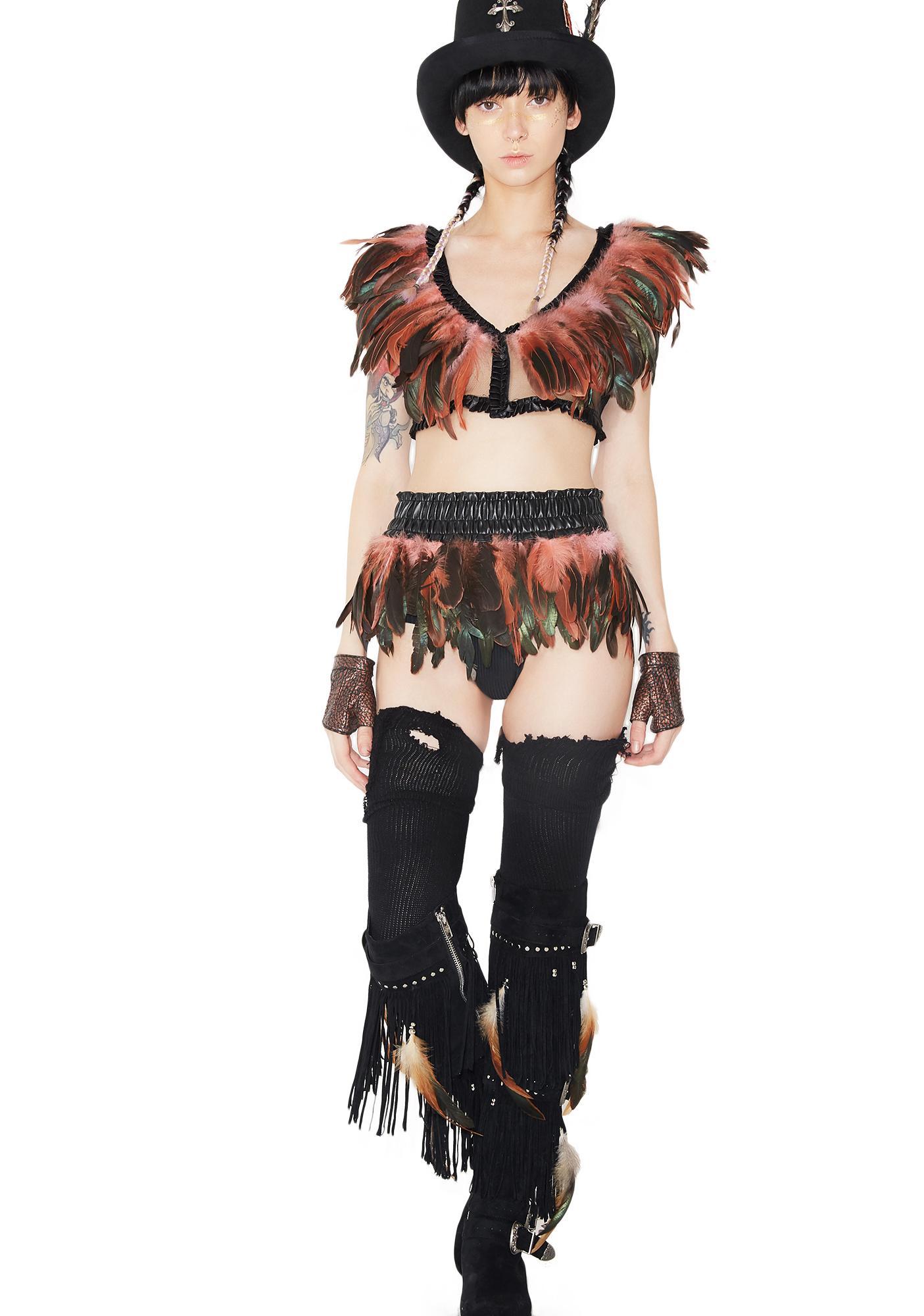 Blush Bird Of Prey Feather Top