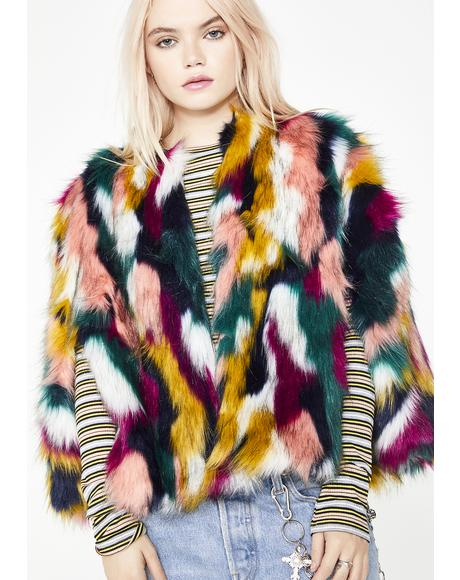 Poison Paradise Furry Jacket
