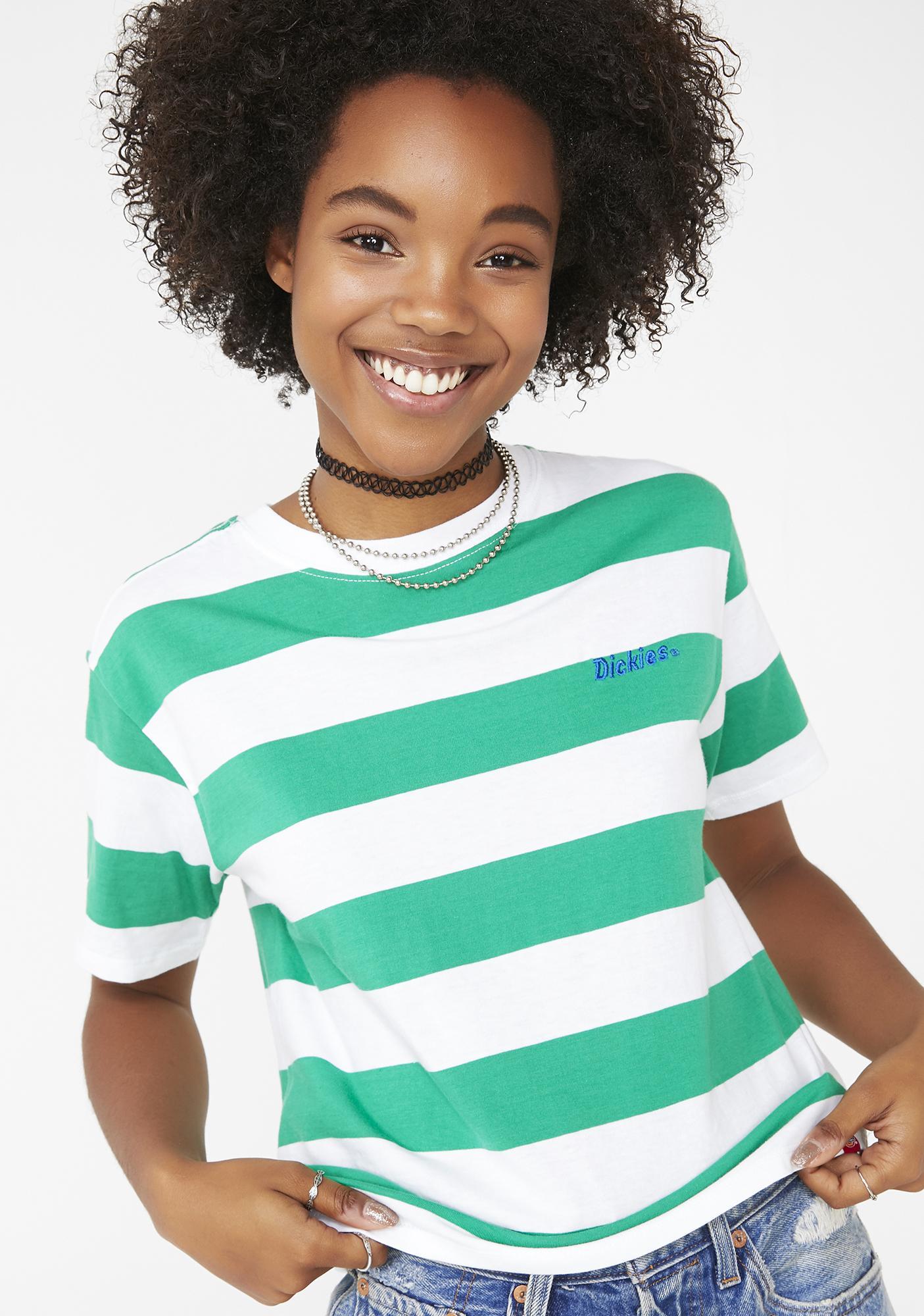 33c6797ef29 Dickies Girl Tomboy Stripe Tee | Dolls Kill