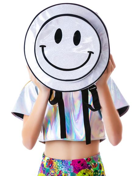 Smiley From Acid Hologram Backpack