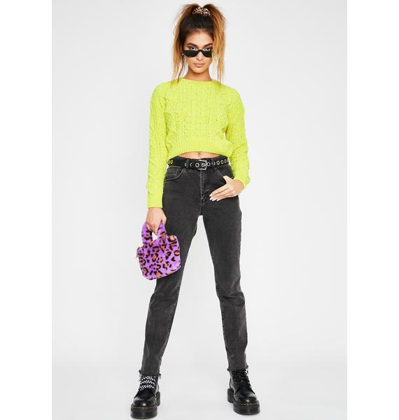 Lime Scuse Me Knit Sweater