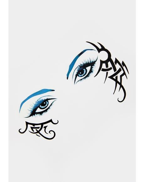 Raging Temper Temporary Eye Tattoo
