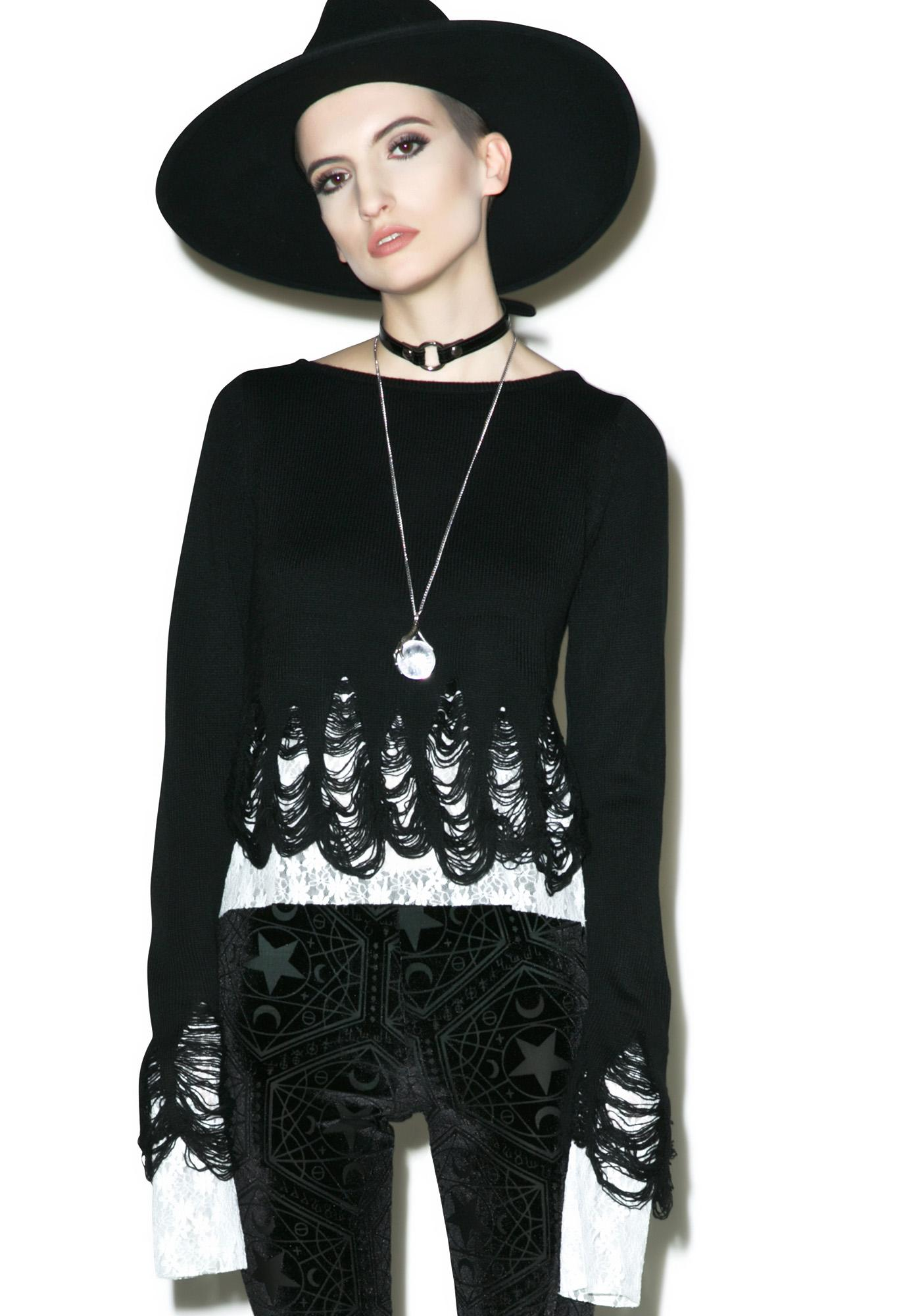 Killstar Lestat Knit Crop