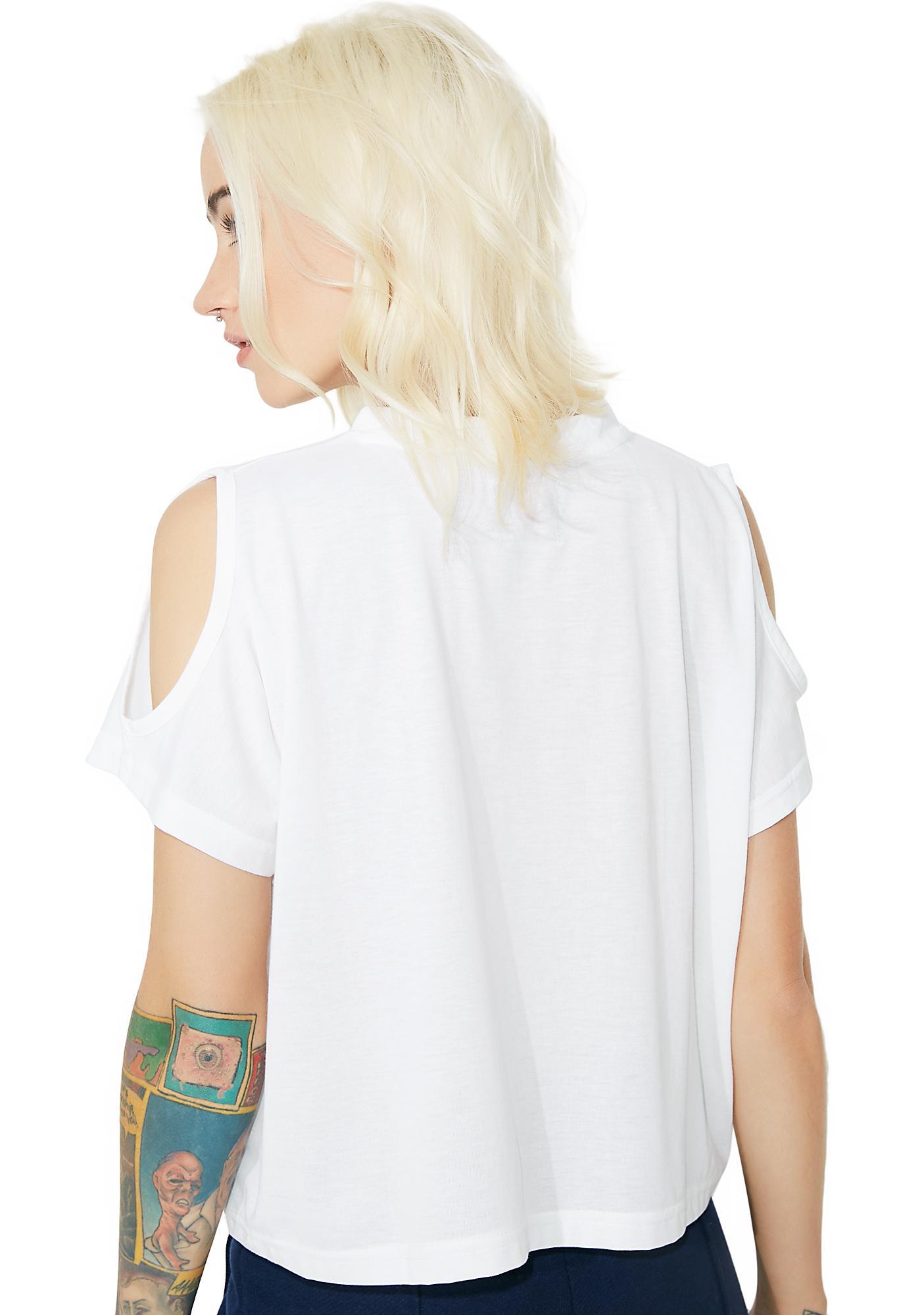 Fila Nikki Cold Shoulder Crop Top
