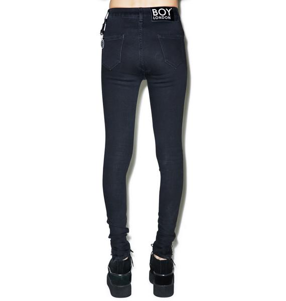 BOY London Boy High Waist Skinny Jeans