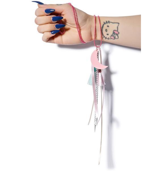 Suzywan Deluxe Moon Tassel Necklace
