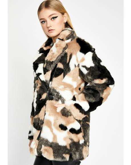 The Extra Mile Faux Fur Coat