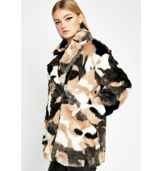 The Extra Mile Faux Fur Coat
