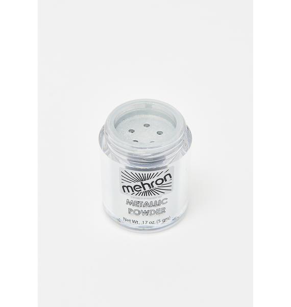 Mehron Silver Metallic Powder With Mixing Liquid