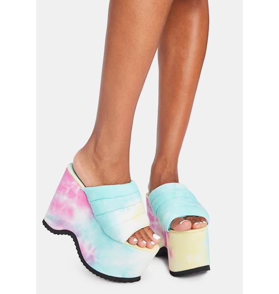 Lemon Drop by Privileged Manolya Platform Sandals