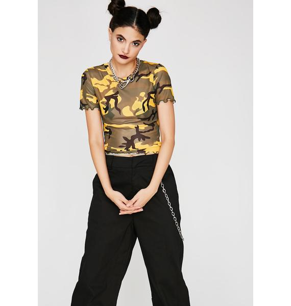 Sunny On Command Camo Top
