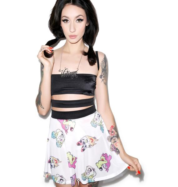 Coveted Society Acid Double Band Skater Skirt