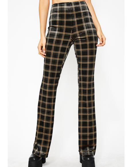 Plaid Posse High Waist Pants