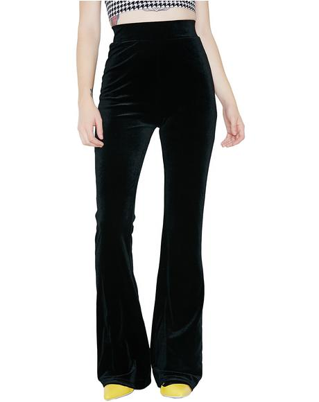 Midnight Persuasion Velvet Pants